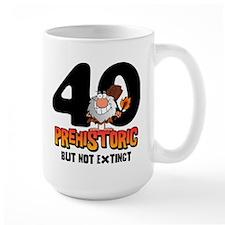 Prehistoric 40th Birthday Mug