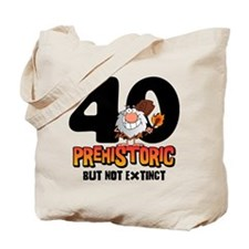 Prehistoric 40th Birthday Tote Bag