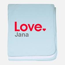 Love Jana baby blanket