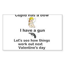 Cupid: bow vs gun Decal