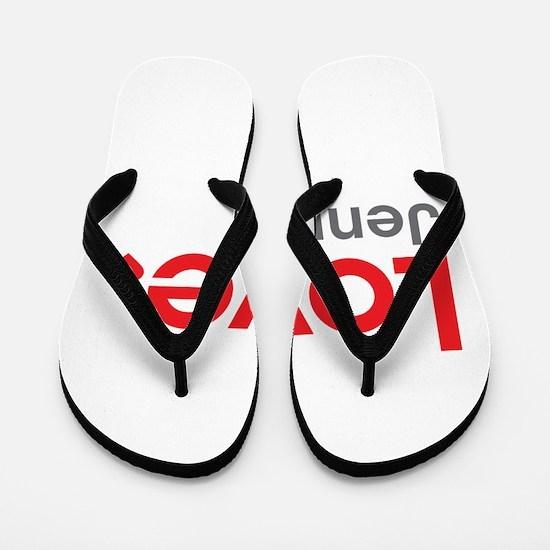 Love Jenna Flip Flops