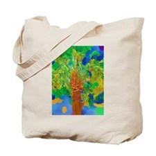 Watercolor Palm Tote Bag