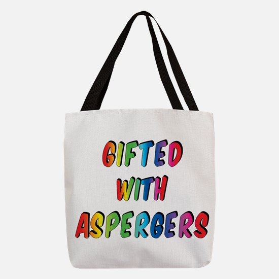 Gifted with Aspergers Polyester Tote Bag
