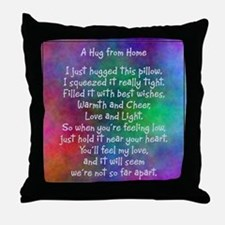 Hug from Home (watercolor light) Throw Pillow