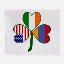Shamrock of Armenia Throw Blanket