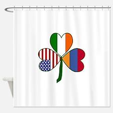 Shamrock of Armenia Shower Curtain
