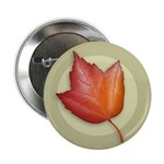 "Red Maple Leaf 2.25"" Button (10 pack)"