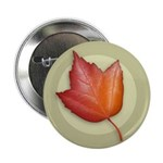 Red Maple Leaf Button