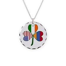 Shamrock of Armenia Necklace Circle Charm