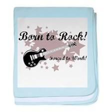 Born To Rock baby blanket