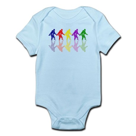 Artsy Colorful Crypto Bigfoot Infant Bodysuit