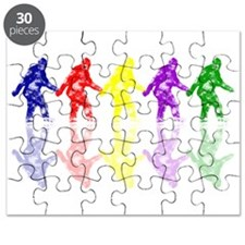 Artsy Colorful Crypto Bigfoot Puzzle