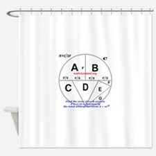 Sections of a Circle Shower Curtain