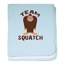 Team Squatch baby blanket
