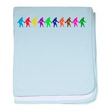 Ten Color Squatches baby blanket