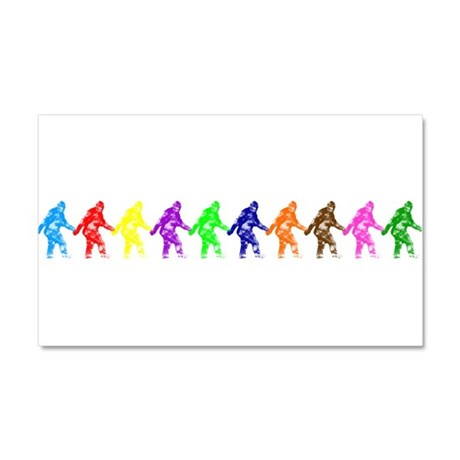 Ten Color Squatches Car Magnet 20 x 12