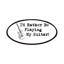 Id Rather Be Playing My Guitar Patches