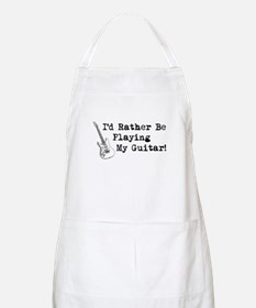 Id Rather Be Playing My Guitar Apron