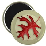 "Pin Oak Leaf 2.25"" Magnet (10 pack)"