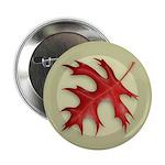 """Pin Oak Leaf 2.25"""" Button (10 pack)"""
