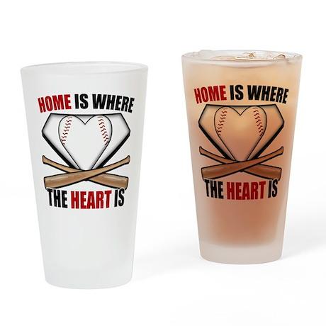 HomeWhereHeartIs copy Drinking Glass