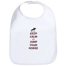 Keep Calm and Jump Your Horse Bib