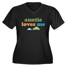 Auntie Loves Me Women's Plus Size V-Neck Dark T-Sh