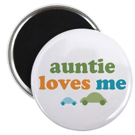 "Auntie Loves Me 2.25"" Magnet (100 pack)"