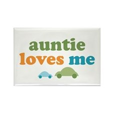 Auntie Loves Me Rectangle Magnet