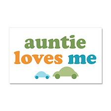 Auntie Loves Me Car Magnet 20 x 12
