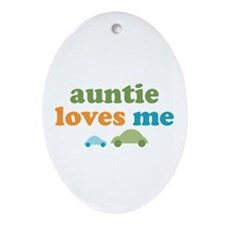 Auntie Loves Me Ornament (Oval)