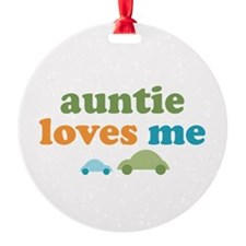 Auntie Loves Me Ornament