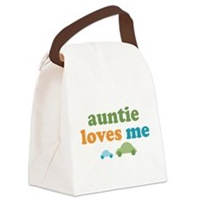 Auntie Loves Me Canvas Lunch Bag