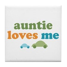 Auntie Loves Me Tile Coaster