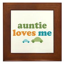Auntie Loves Me Framed Tile