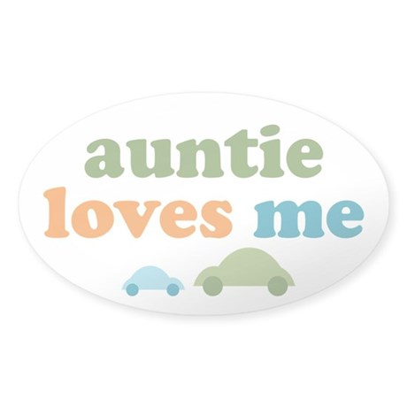 Auntie Loves Me Sticker (Oval)