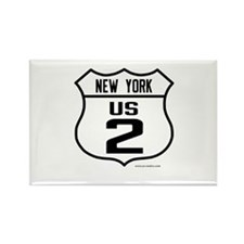 US Route 2 - New York Rectangle Magnet (10 pack)