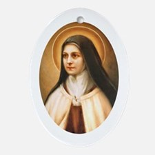 Saint Therese of Lisieux Oval Ornament