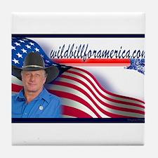 Wild Bill for America Eagle Tile Coaster