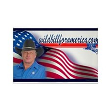 Wild Bill for America Eagle Rectangle Magnet
