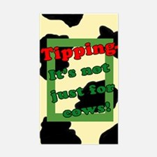 Funny Cow Tip Jar Rectangle Decal