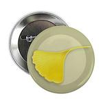 "Ginkgo Leaf 2.25"" Button (10 pack)"