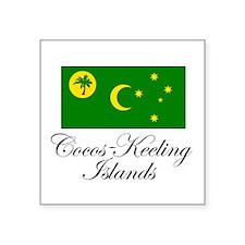 Cocos - Keeling Islands - Fla Sticker (Rectangular