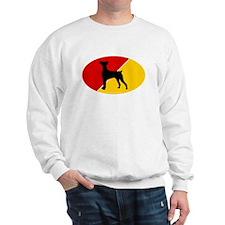 German Flag German Pinscher Sweatshirt
