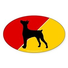 German Flag German Pinscher Oval Decal