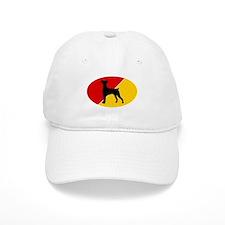 German Flag German Pinscher Baseball Cap