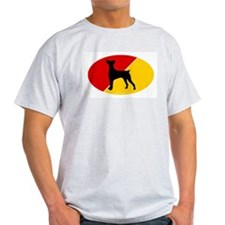 German Flag German Pinscher Ash Grey T-Shirt