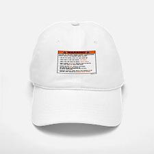 OEM warning label Baseball Baseball Cap