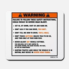 OEM warning label Mousepad