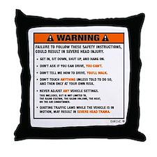OEM warning label Throw Pillow